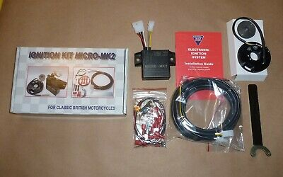 BSA 250 441 500 ELECTRONIC IGNITION WITH COIL by WASSELL MICRO-MK1 B44 B50