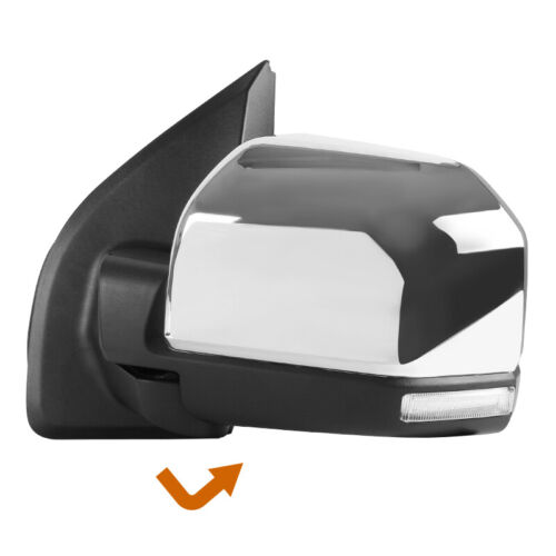 2015-2018 Ford F150 F-150 Chrome Power+Heated+LED Signal Side Mirror Driver Left