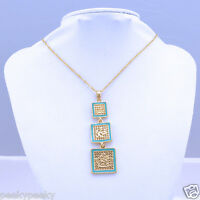 Gold Plated Muslim God Allah Islam Pendant Necklace Chain Locket Chain Jewelry