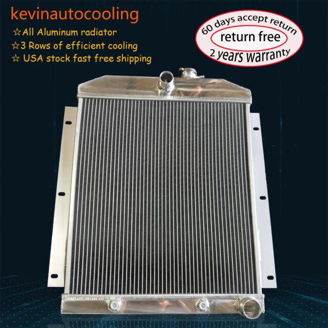 FOR 1947-1954 CHEVY C//K TRUCK PICKUP L6 ALUMINUM RADIATOR 47 54 48 53 NEW+FAN
