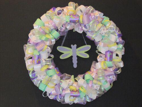 """Dragon Fly Ribbon Wreath 17/"""""""