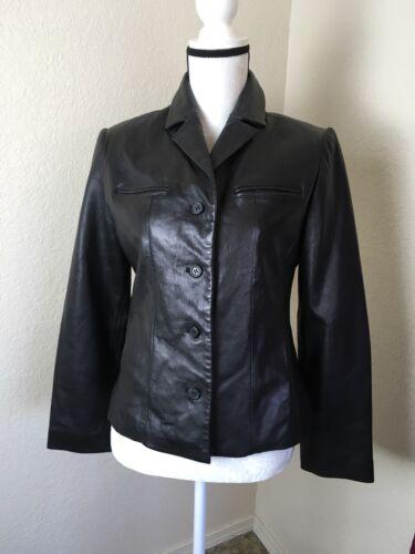M noir pour en légèrement excellent femmes taille état Veste cuir usée en x86qZ1
