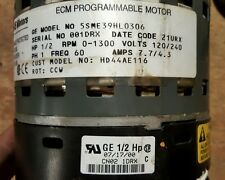 GE Carrier 1/2 HP 0-1300RPM 120v-240v ECM BLOWER MOTOR CCW  5SME39HL0306