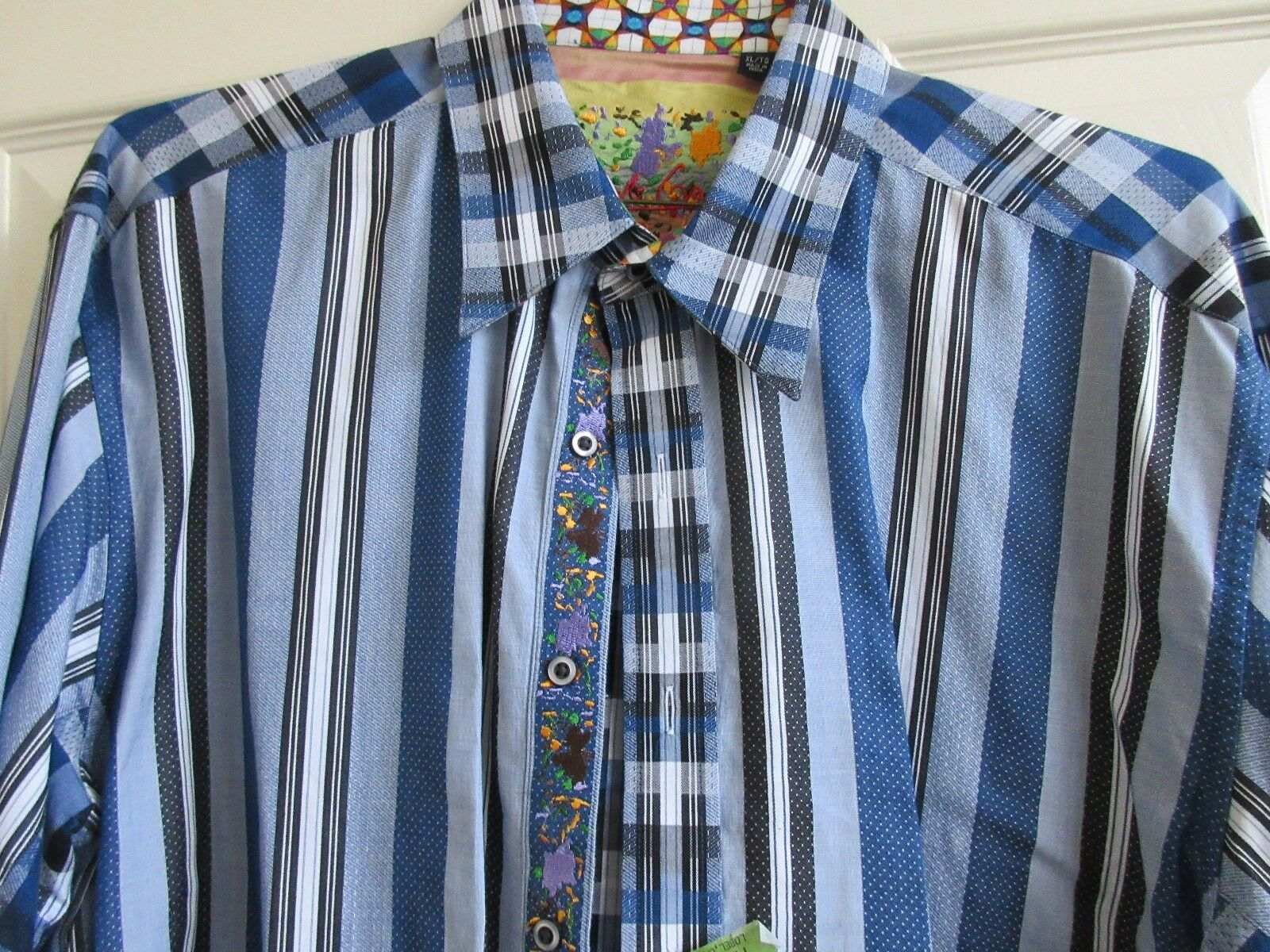 Robert Graham , Men's Long Sleeve Shirt , XL / TG , 100