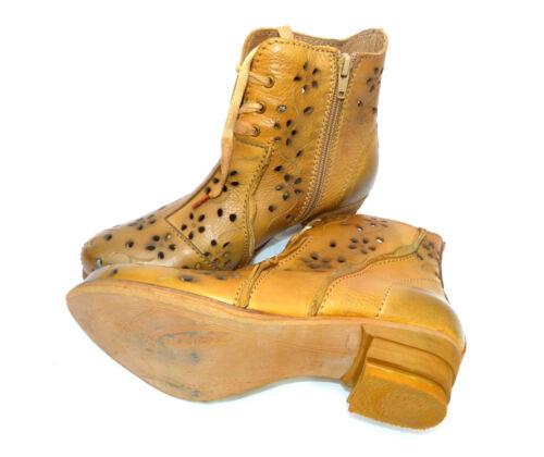 38 Braun 90 Cognac Bisher Damen 184 Neu Gr Rovers Leder Boots Stiefelette qw7tUPAPI