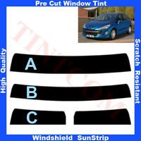 Pre Cut Window Tint Sunstrip for Peugeot 308 5Doors Hatchback 2007-2013 AnyShade
