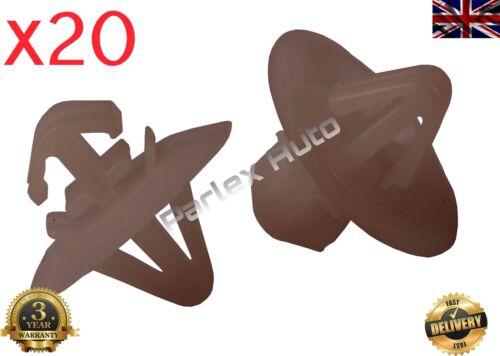 20pcs Side Door Moulding Trim Clips Renault Trafic Master Kangoo 7703077421