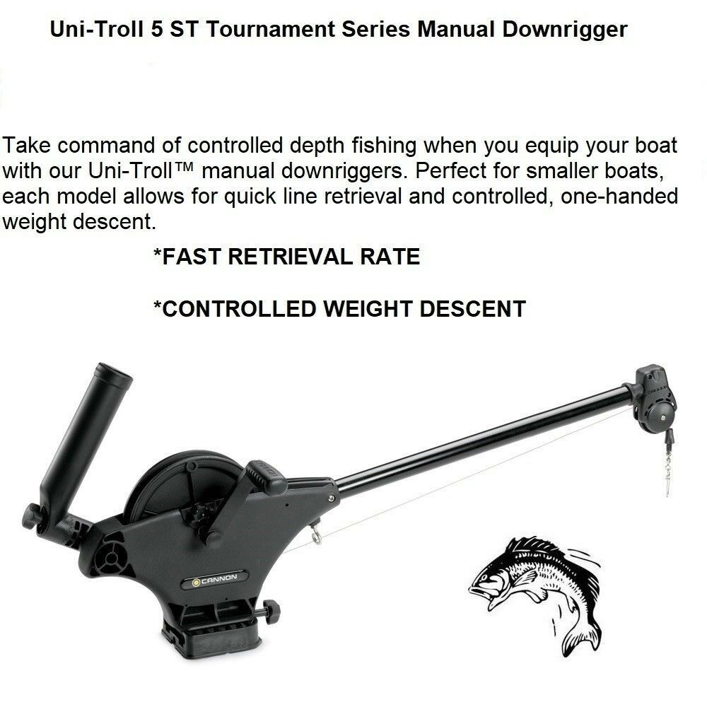 Cannon UniTroll 5 ST Manual Downrigger; PreSpooled CableTournament Series