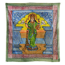Tagesdecke Lakshmi Überwurf indische Decke 230 x 210cm Baumwolle Wandbehang Deko