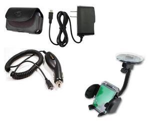 Car Holder+Car+Wall Charger+Belt Case for BLU Dash JR K D141K, Dash JR TV D141T
