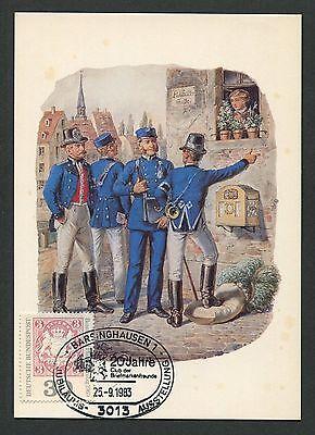 Gelernt Brd Mk 1983 601 Philatelistentag Maximumkarte Carte Maximum Card Mc Cm D2295 Moderne Techniken Briefmarken Briefmarken