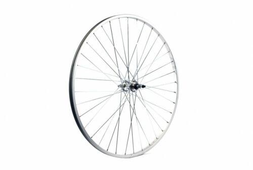 City Alloy Silver Gear Sided Nutted 700C ETC Cycle Bike Rear Wheel Hybrid