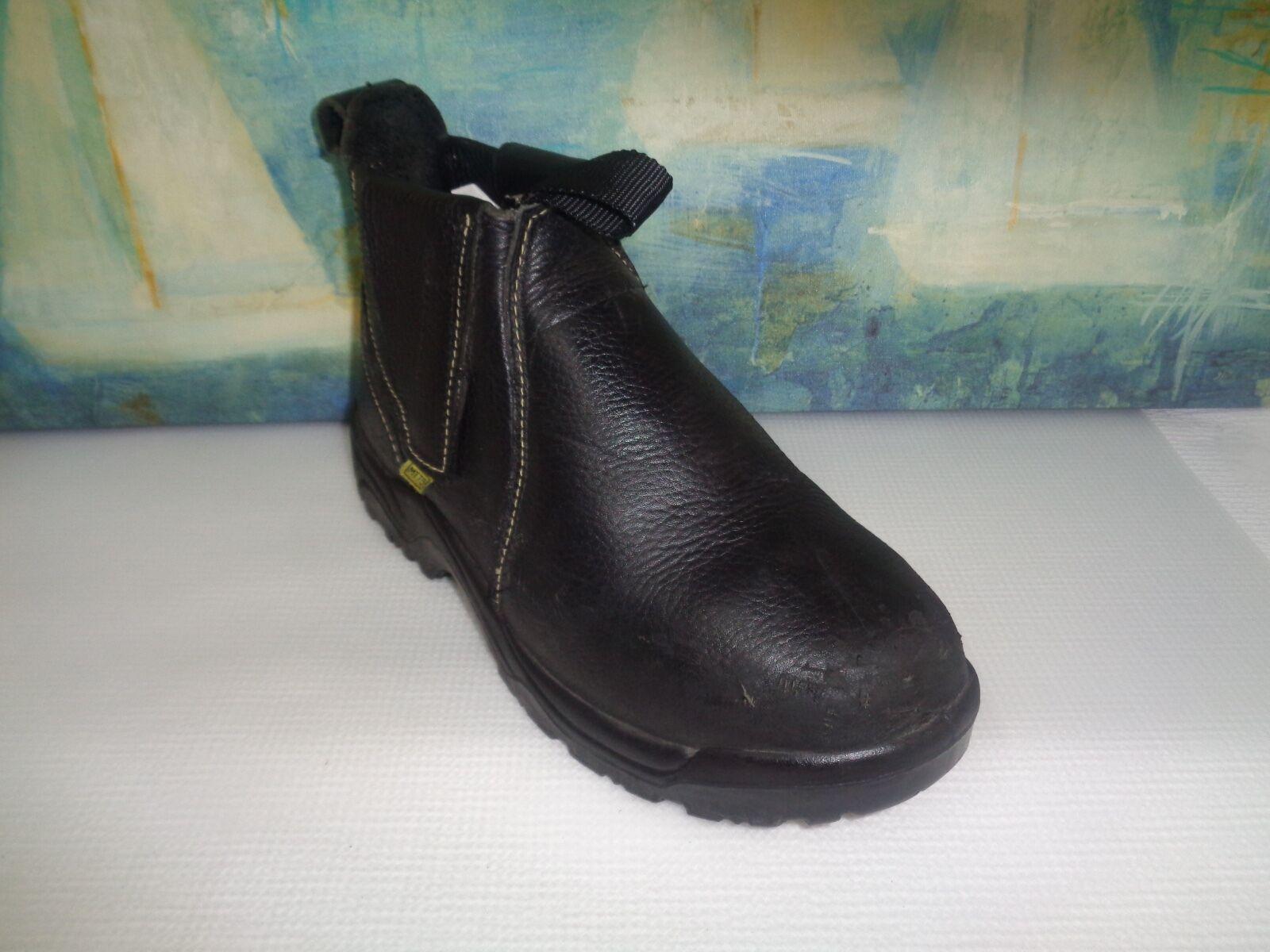 Para hombres Cuero Negro Florsheim FE690 acero dedo botas D
