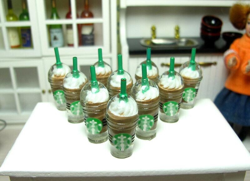10x Coffee ice cream cup 3cm H