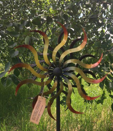 XL éolienne sol ArtFerro Carillon jardin connecteur Gartendeko métal déco h180 ø38