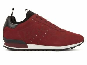 9b3e794140e2 Sale Hugo Boss Parkour Runn Logo 50397617 601 Mens Trainers Dark Red ...