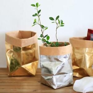 Image Is Loading Washable Kraft Paper Bag Plant Flowers Pots Multifunction