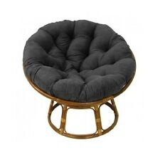 Papasan Chair w/ Micro Suede Tufted Cushion Gaming Chair Lounge Dorm Bedroom