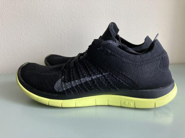 Nike Free iD 4.0 Flyknit 638398 717075 Mens Size 10.5 Volt Black Neon Green Run