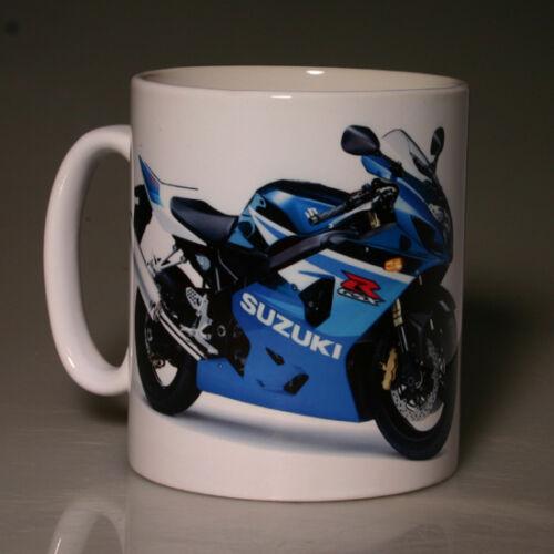 BLUE BLACK MUG SUZUKI GSXR600 2005 #151