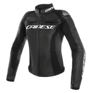 New-Dainese-Racing-3-Perforated-Leather-Jacket-Women-039-s-EU-46-Black-253378969146