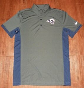 7d40b512160b Image is loading Los-Angeles-Rams-Nike-Evergreen-Navy-Polo