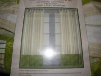 2 x Schlaufengardine Store Gardinen Vorhänge neu OVP 145 x 245 cm