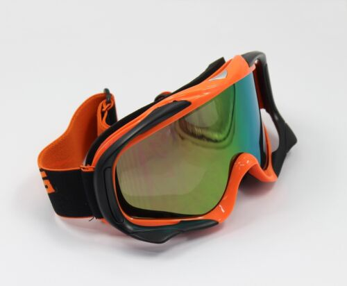Orange UV Protection Motorbike MX Racing Goggles Quad Dirt Trail Bike Skiing