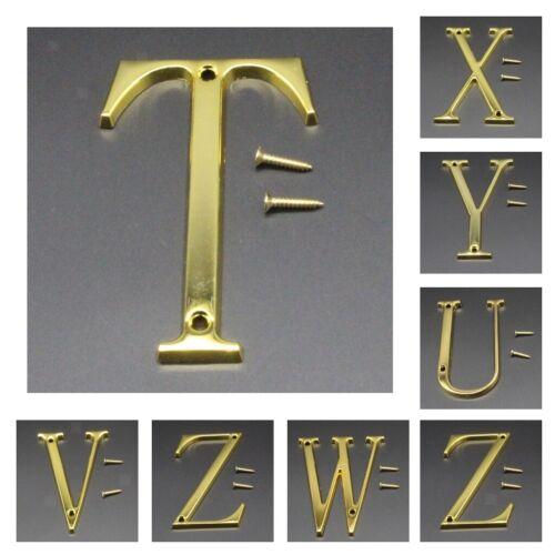 Metallbuchstaben Zeichen sich hin  und herbewegender Hausnummer Tür Alphabet