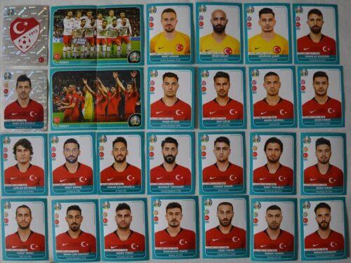 Panini EM 2020 Preview Komplette Mannschaft Türkei 1 bis 28 inkl.Glitzerst.