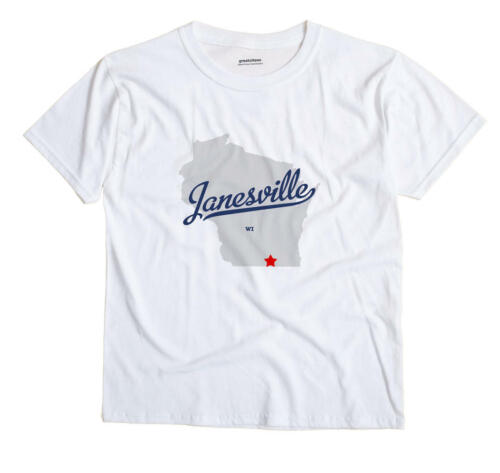 Janesville Wisconsin WI T-Shirt Souvenir MAP