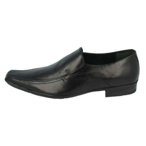 Uomo By Lambretta nero Leather 99 Slip scarpe Shellan On £29 wxraSqwO