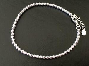 Genuine-925-Sterling-Silver-Balls-Ball-Bracelet-Beads-Women-Girls