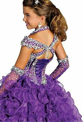 Girl Ball Gown Pageant Dress Bridesmaid Party Princess Gown Flower Dress Stock