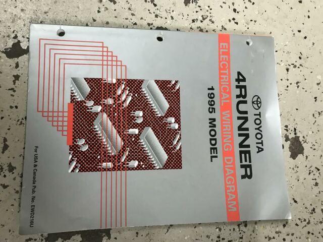 1995 Toyota 4RUNNER Electrical Wiring Diagram Shop Manual ...