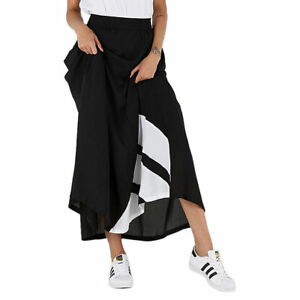 b95544691d adidas Originals Women EQT ADV Chiffon Long A-Line Maxi Skirt XS ...