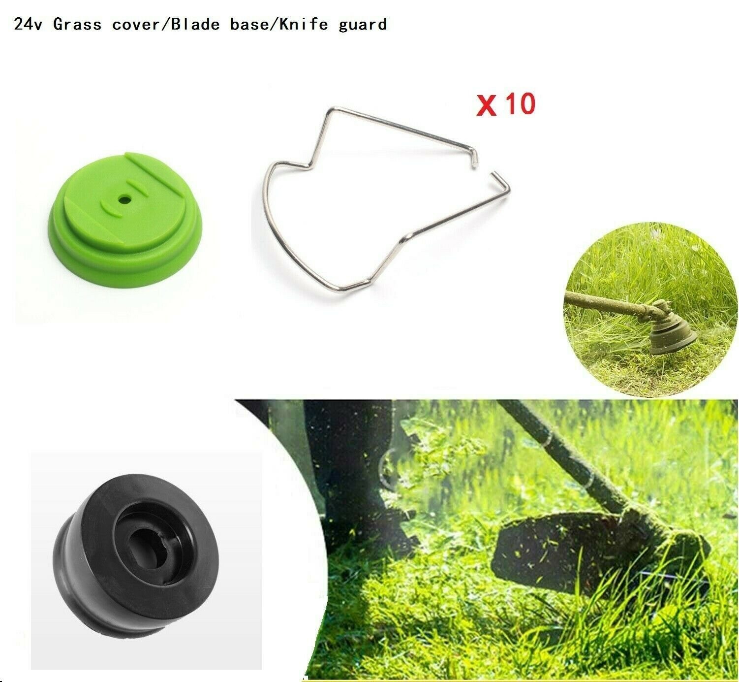 10*Knife Guard 1*24v Grass Cover 1*Blade Base Charging Durable Garden Tool New