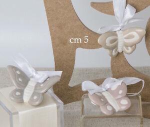 Bomboniera farfalla porcellana da appendere matrimonio for Oggetti da appendere