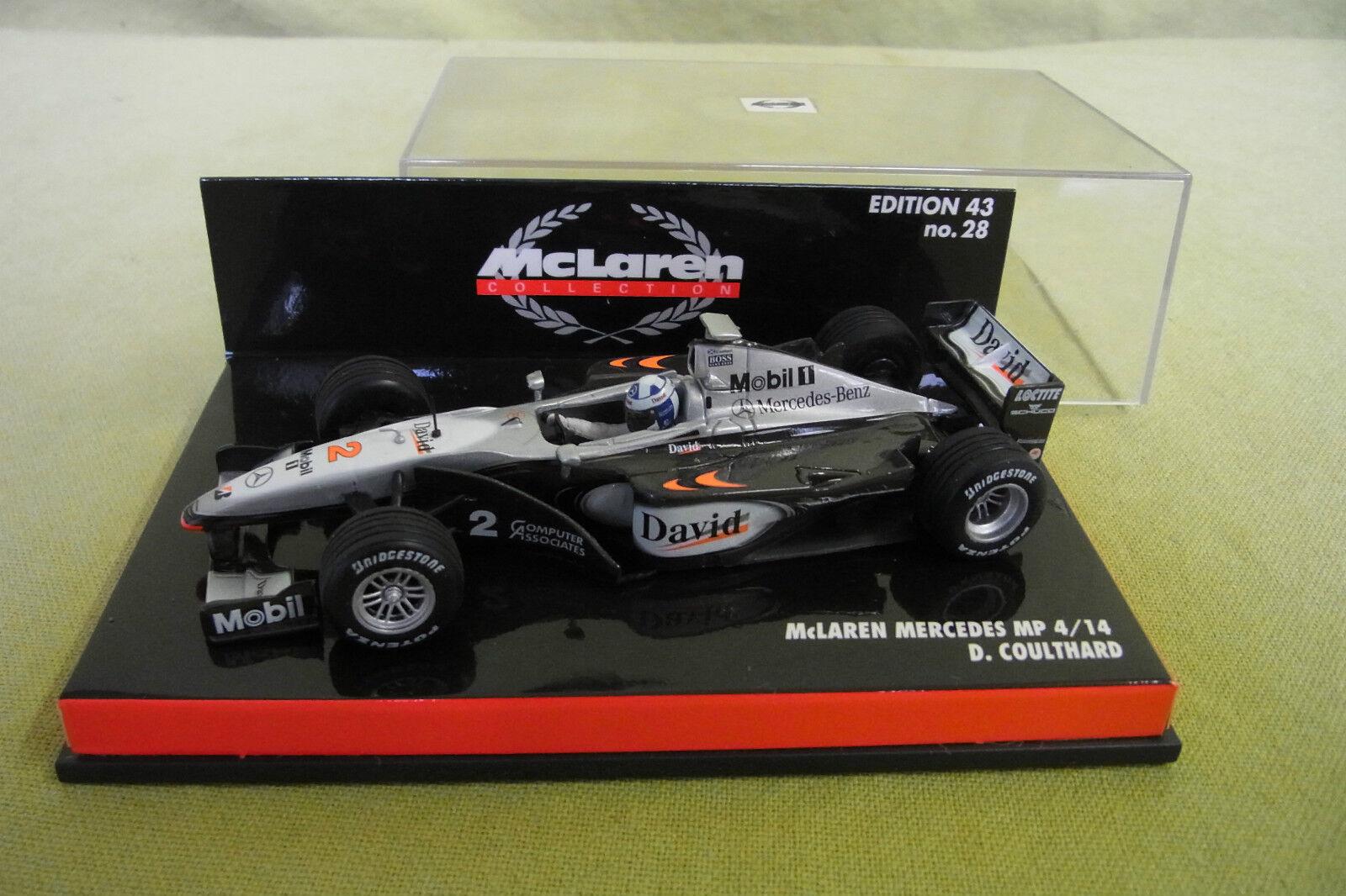 Minichamps - McLaren Collection - Mercedes MP4-14 - D. Coulthard- Edt. 43 Nr. 28