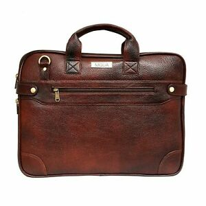 AONA Synthetic Leather Shoulder Sling Laptop Messenger Bag For Unisex