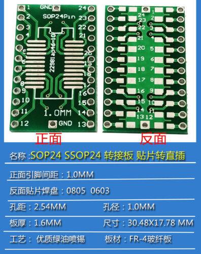 PCB Converter Plate Board IC SOP SO TSSOP MSOP SOT QFP TQFP LQFP to DIP Adapter