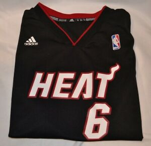 size 40 447a7 15c9b Details about LEBRON JAMES MIAMI HEAT ADIDAS #6 NBA JERSEY Size Youth XL.  pre-owned.