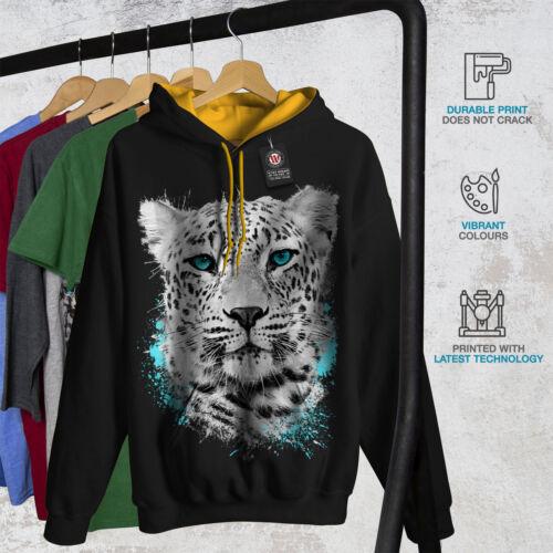Tiger gold Wild Hoodie Hood Men Contrast Cat New Animal Black 6wrwPn8xX5