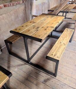Surprising Details About Industrial Rustic Pub Garden Restaurant Bench Steel Wooden Table Vintage Inzonedesignstudio Interior Chair Design Inzonedesignstudiocom