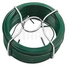 Bindedraht mit einem Durchmesser von 2,0mm PVC-ummantelt grün 50m