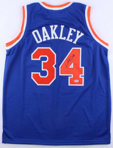 Charles Oakley Signed New York Knicks style
