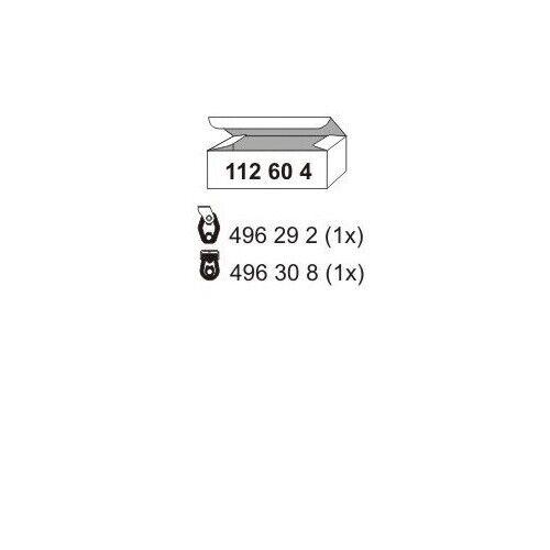 1 Montagesatz Schalldämpfer ERNST 112604 passend für