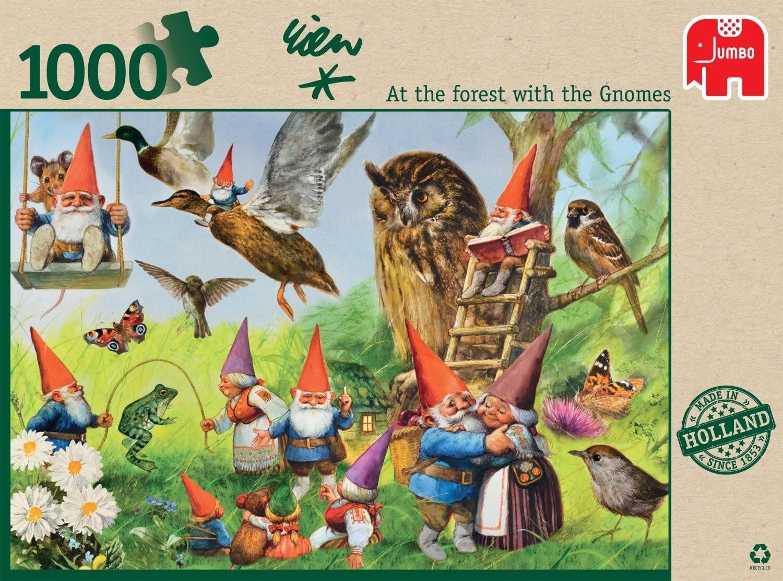 David le gnome Rien Poortvliet Jigsaw Puzzle 1000pc forêt avec les Gnomes nouveau