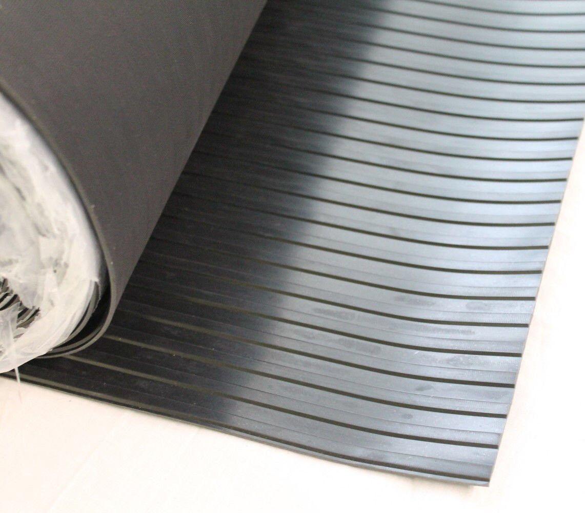 Breitriefenmatte Breitriefenmatte Breitriefenmatte 3mm 1200x3000mm schwarz Gummimatte Profilmatte Antirutschmatte 438a7a