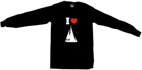 I Heart Love Sailboat Silhouette Mens Tee Shirt Pick Size Color Small-6XL